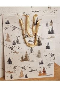 """Geschenktasche """"forest white"""""""